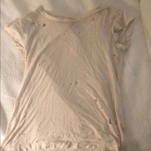 Emma And Sam hand distressed t-shirt